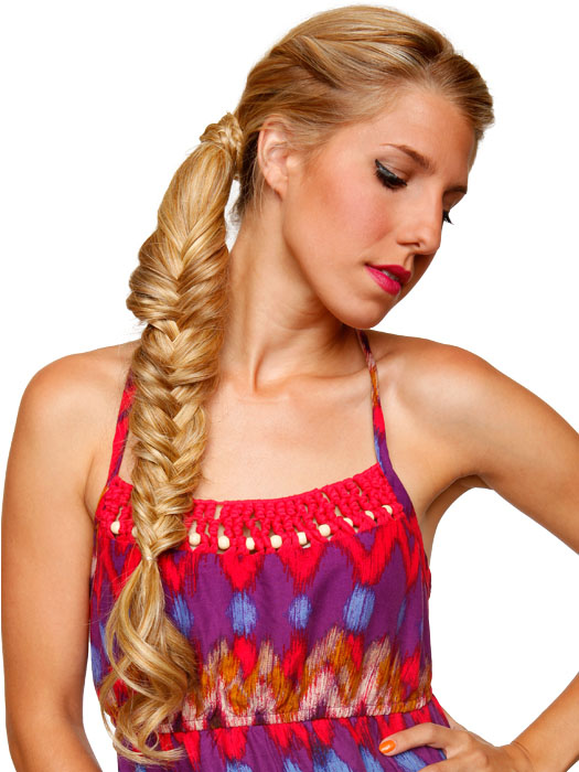 Fishtail braid it for a fashion forward look