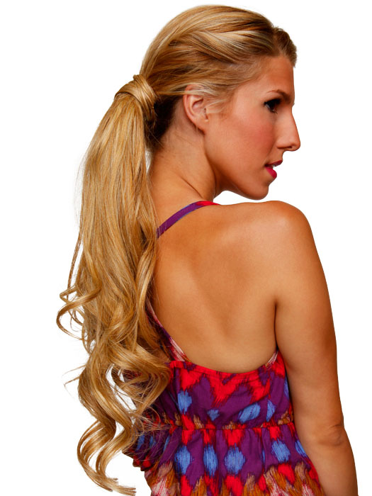 Wear in a low pony to show off the length | Color: R25