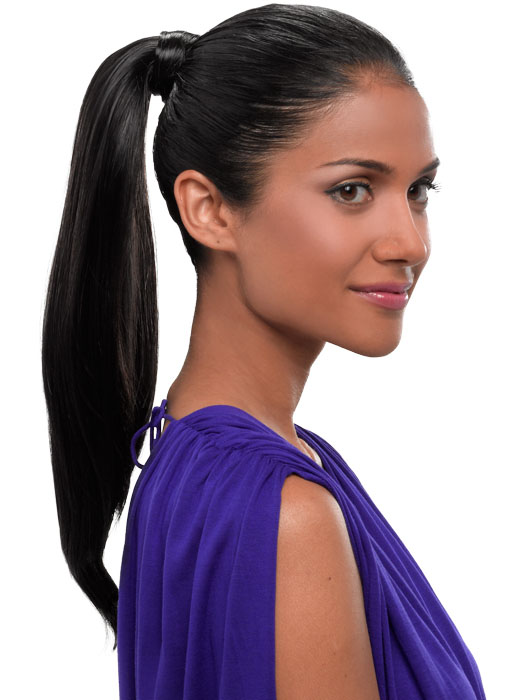 Hairdo Simply Straight Pony - Instant 18 inch Ponytail: Color R4 - Midnight Brown (Darkest Brown)