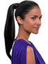 Instant 18 inch Ponytail: Color R4 (Darkest Brown)