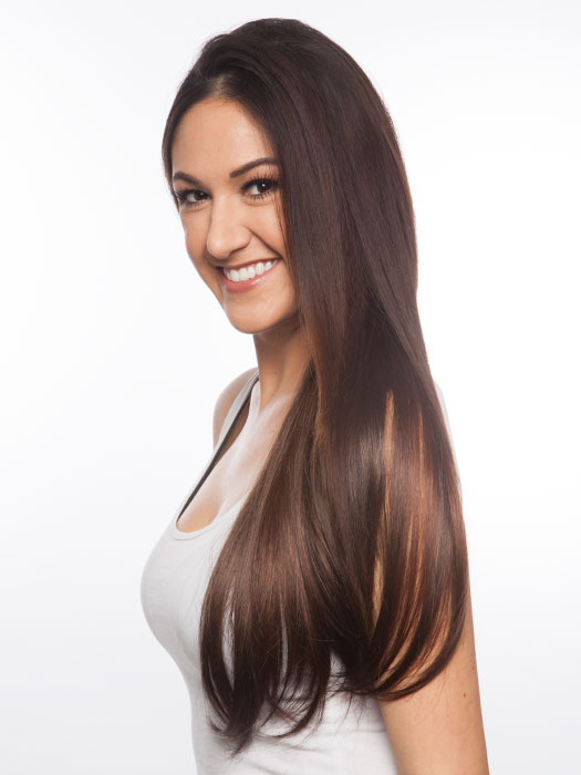 Super long and silky locks blend in with any texture. Color 114/116