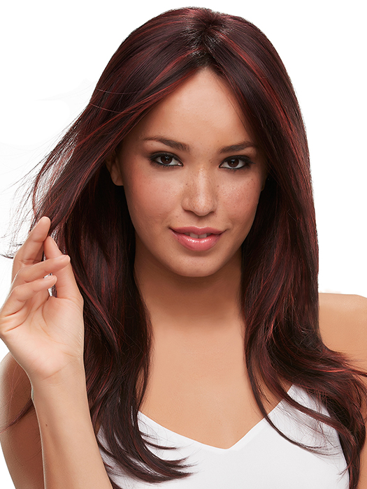 Monofilament top and ready-to-wear lace front | Color: FS2V/31V- Chocolate Cherry