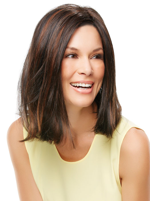 Long layers in the front can be worn as is or your stylist can trim them | Color: 1BRH30