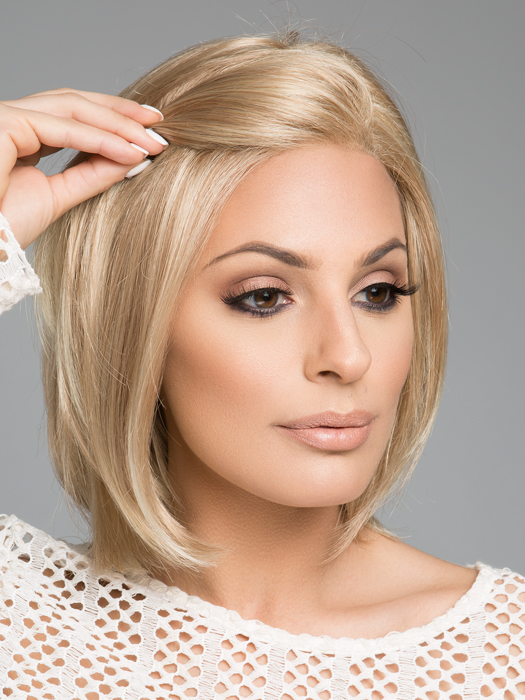 Temple-to-Temple Lace in the Front | Top Color : 24B22- Light Gold Blonde & Light Ash Blonde