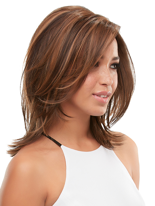The lace front and monotop provide multidirectional, natural movement, and silken HD fiber can be heat-styled | Color: FS6/30/27 | Toffee Truffle