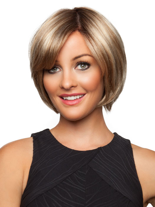 Chloe by Jon Renau: Color 12FS8 Shaded Praline (Golden Brown/Warm Platinum Blonde/Platinum Blonde Blend, Shaded w/ Med Brown)