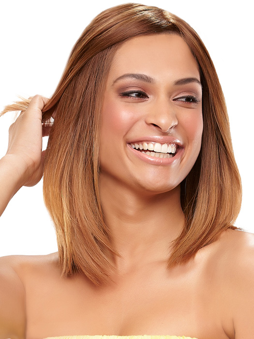 Pull the front back and feel confident with the superior lace front | Color: B8-27/30RO (Ombre Dark)