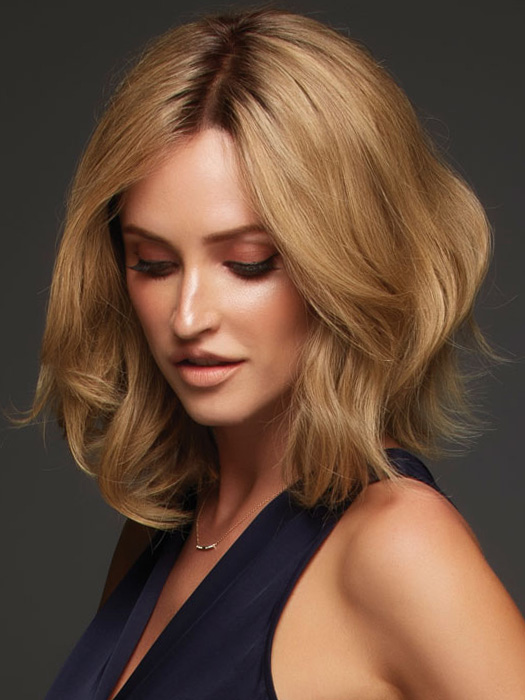Natural cap construction and rooted colors add a natural appearance | Color: 24BT18S8