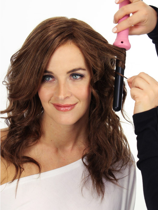 Use any curling iron to create loose or tight curls   Color: 6/33