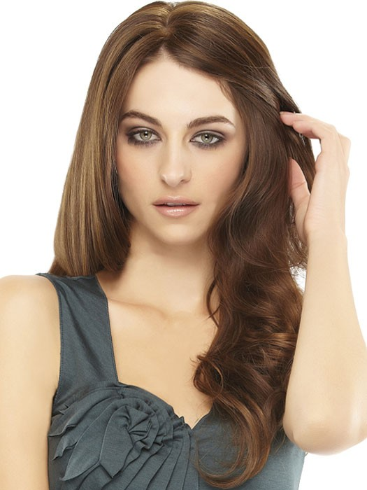 easiPart human hair volumizer: Color 8/30 Brown (Med Brown & Golden Red Blend)