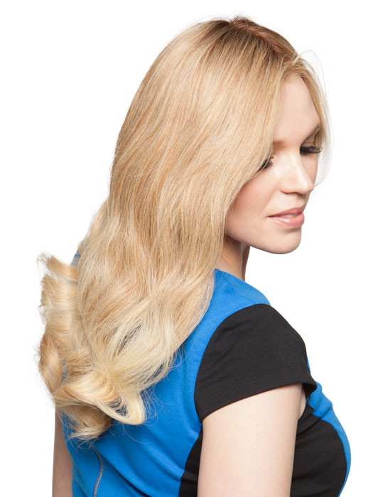 Long layers in the front can be cut by your stylist | Color: 12FS8