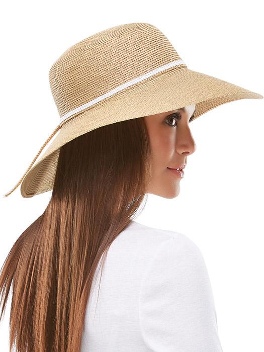 Braided Wide Brim Hat by Jon Renau | Color Tan