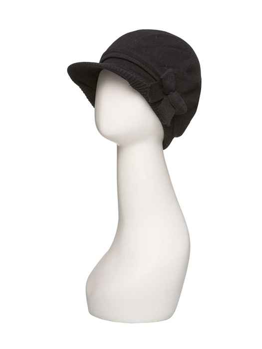 Bow Cap by Jon Renau | Color Black