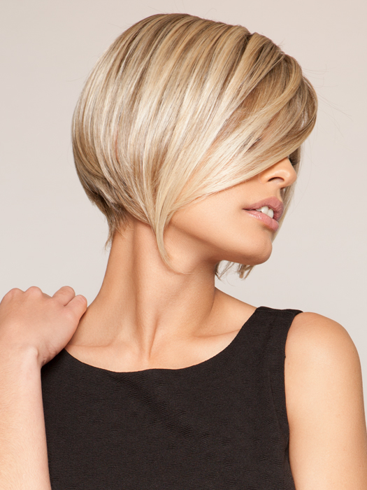 Angled bob with layers and definition | Color: 12FS8