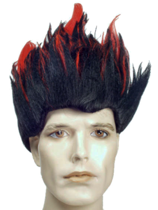 Mens Spiky Wigs Fire is a Men's Costume Wig