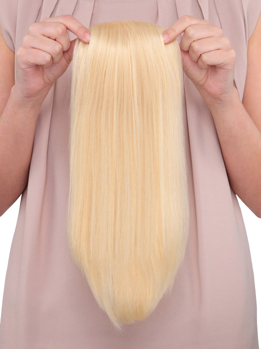 100% Human Hair can be styled to blend in with your hair
