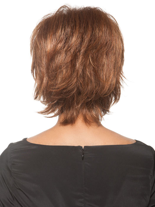 Has wispy layers and a longer neckline | Color Bronzed-Brown