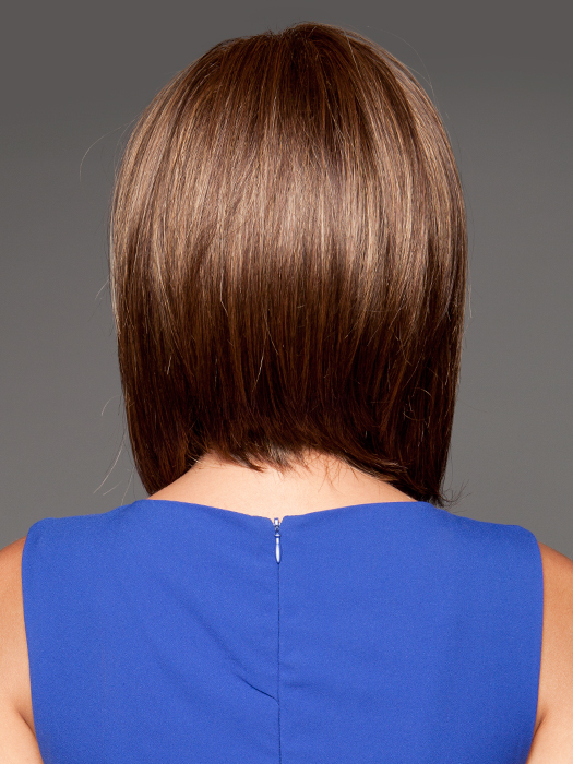 Tapered neckline | Top Color:  Marble Brown Medium brown & light honey brown blend