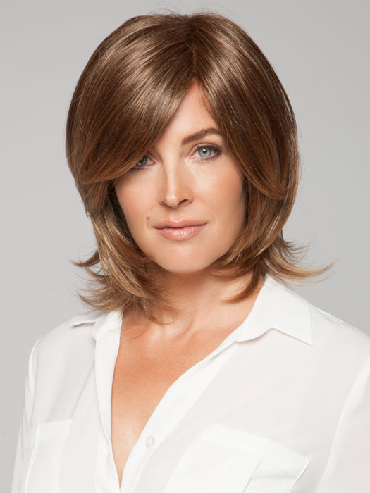 Wigs.com exclusive photo | Out of the box and ready-to-wear | Color: Marble Brown