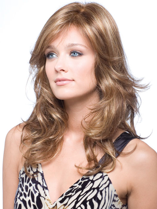 Brittany by Amore/Rene of Paris Long Layered Wig with Double Monofilament Top