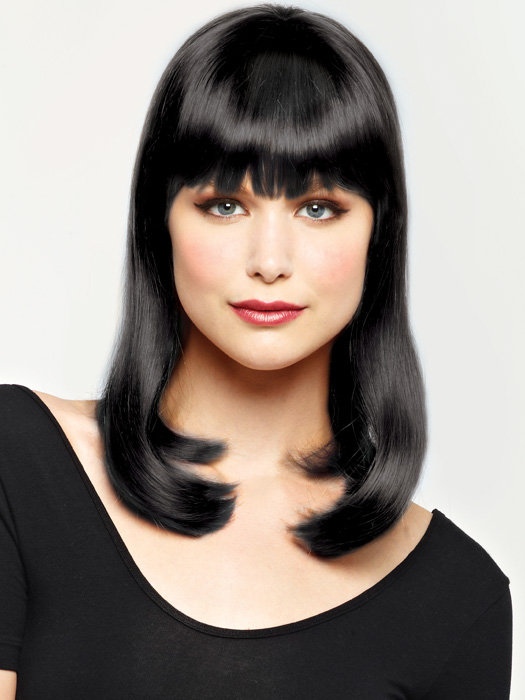 Pizazz by Revlon - Costume, Fun or Party Wig (Color Black)