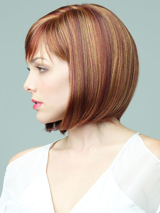 Petite Portia by Revlon Wigs : Hand-knotted Monofilament | Color 33/30R (Tomato Bisque)