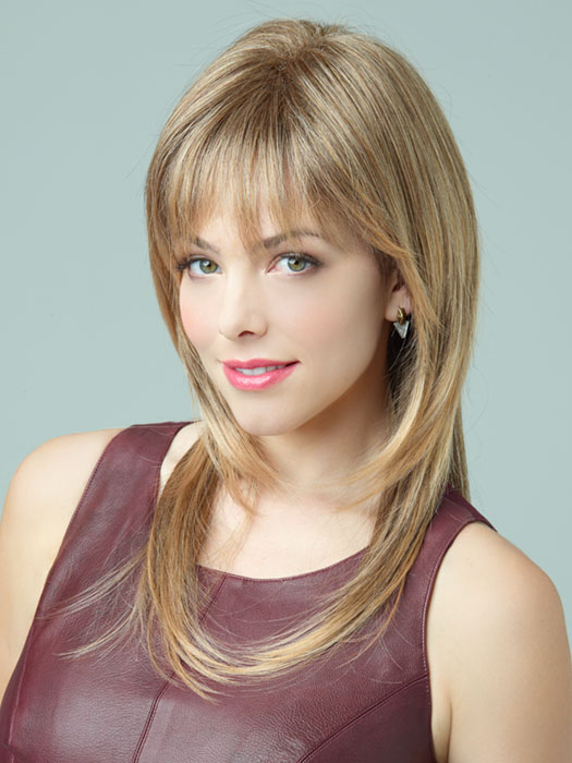 Serena by Revlon Wigs : Side Swept Bangs | Color 4-24/18T (Sunny Spice)
