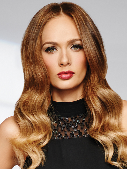 """18"""" Human Hair Clip In Extensions by Raquel Welch 