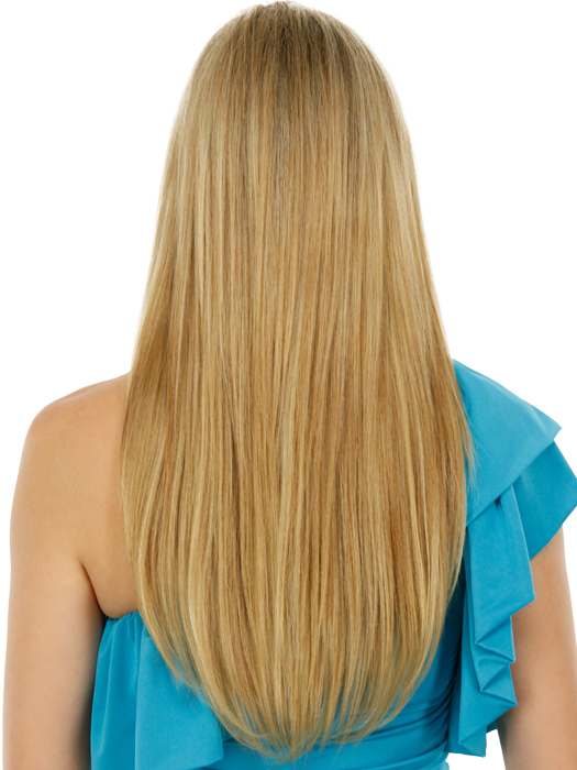 These extensions can be permed to match any client's needs | Color: R25