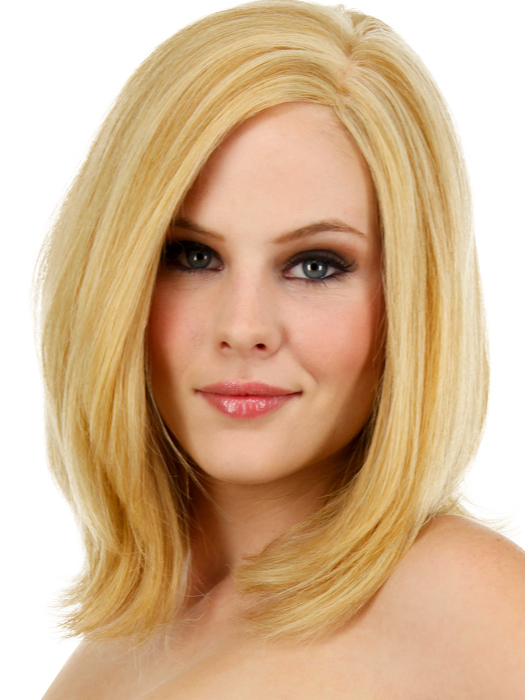 Beguile Human Hair Wig: Color R25 - Ginger Blonde (Golden Blonde with subtle highlights)