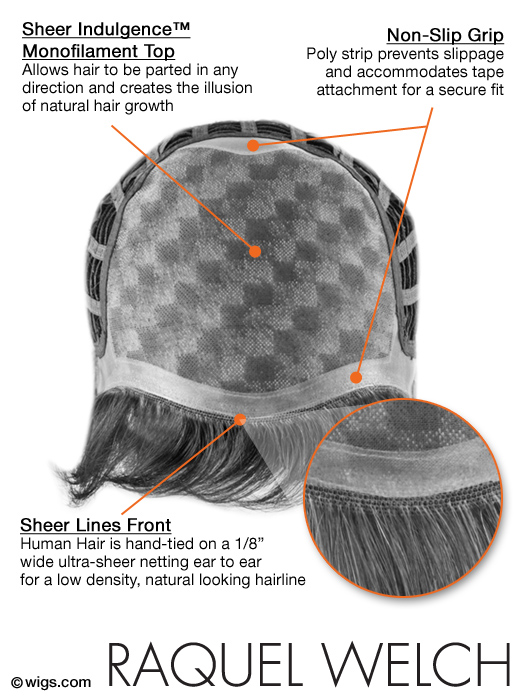Beguile Wig - Cap Construction Chart