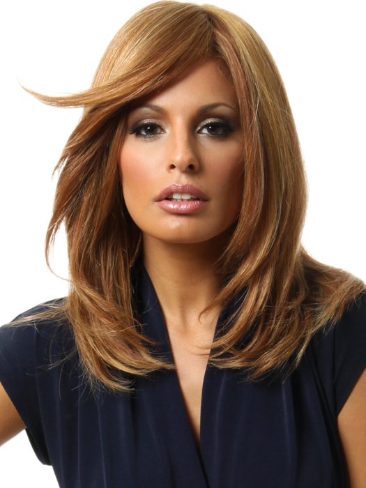 Raquel Welch Bravo Wig: Color R3025S+ Glazed Cinnamon	 (Medium Reddish Brown with Ginger hightlights)