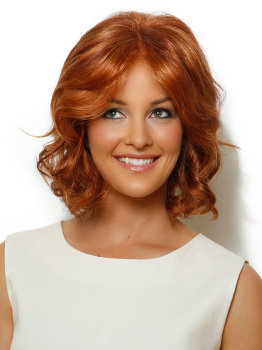 Celebrity Wig by Raquel Welch: Color R28S+ Glazed Fire (Fiery Red with Bright Red highlights)