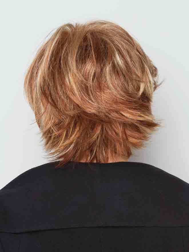 Flipped layers with wispy ends | Color: R29S+