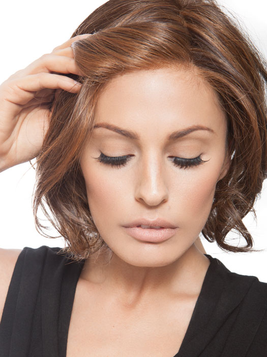 Crowd Pleaser features a Sheer Indulgence lace front that creates a natural looking hairline