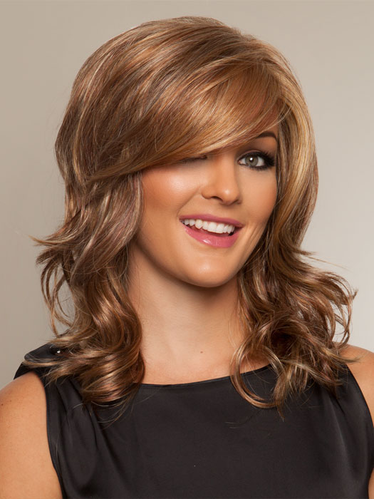 Gorgeous Wig by Raquel Welch: Color R29S+ Glazed Strawberry (Strawberry Blonde with Pale Blonde highlights)