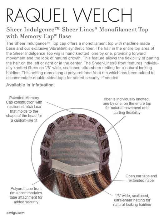 Memory Cap - Monofilament Top - Sheer Lines Scalloped Front