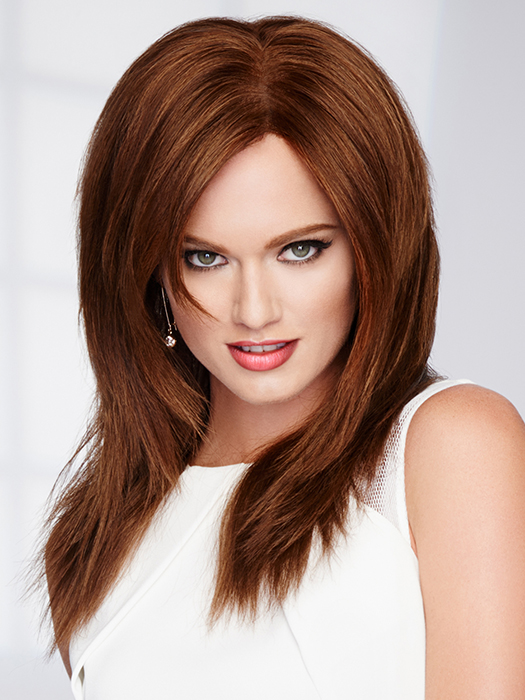 Monofilament Top - Creates the illusions of natural hair growth and allows you to part the hair in any direction | Color: R6/30H