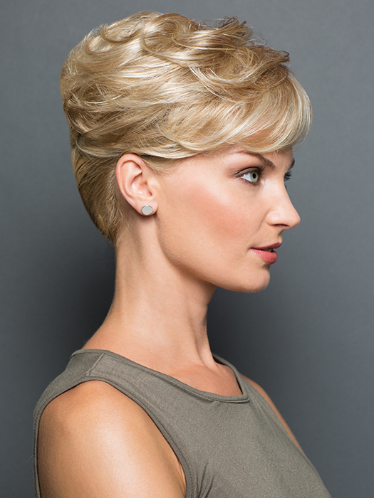 """Gently curled monofilament filler on a flexible 6.5"""" by 6.5"""" base 