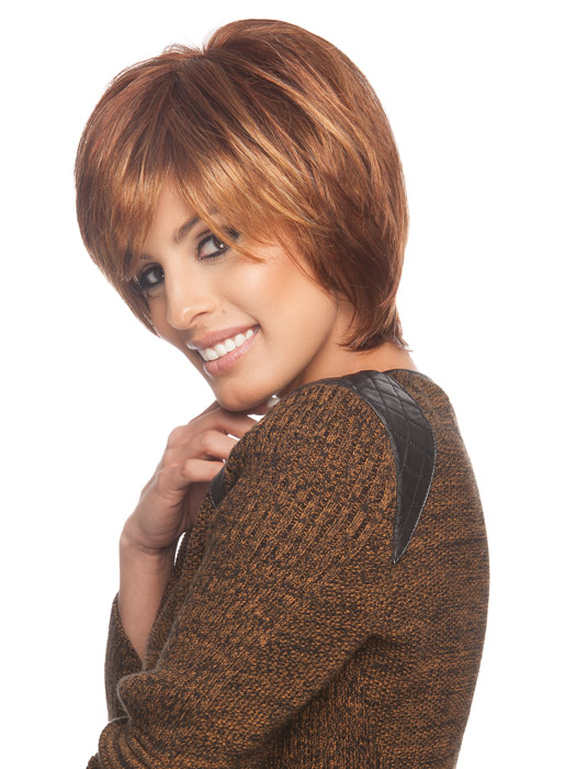 Wispy face framing fringe | Color: R3025S+