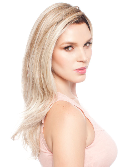 Color RL19/23SS (Cool Beige Blonde With Subtle Platinum Highlights & Medium Brown Roots)