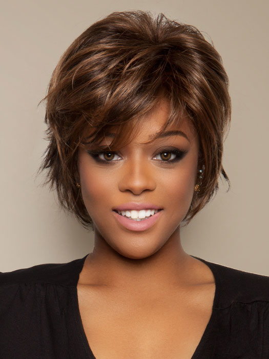 Raquel Welch Salon Cool: Color R9S+ Glazed Mahogany (Dark Brown with subtle, warm highlights)