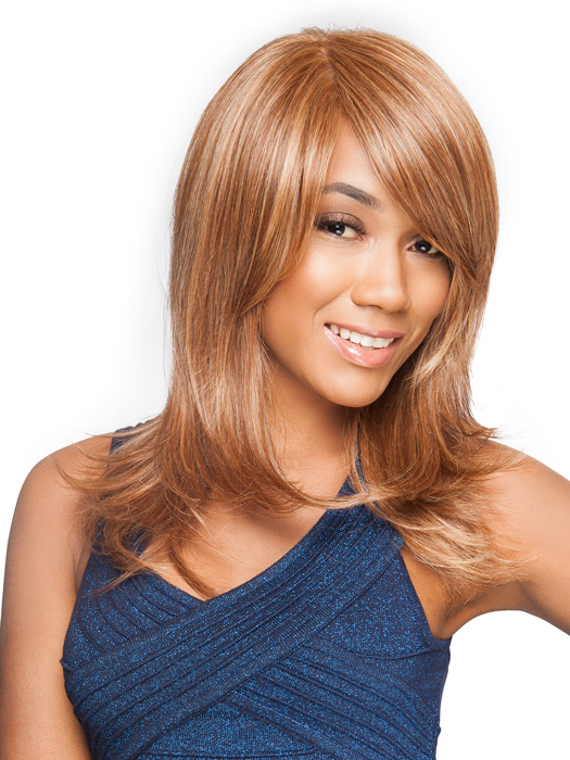 The monofilament top and lace front are sheer to blend in with all skin tones | Color: RL3/27