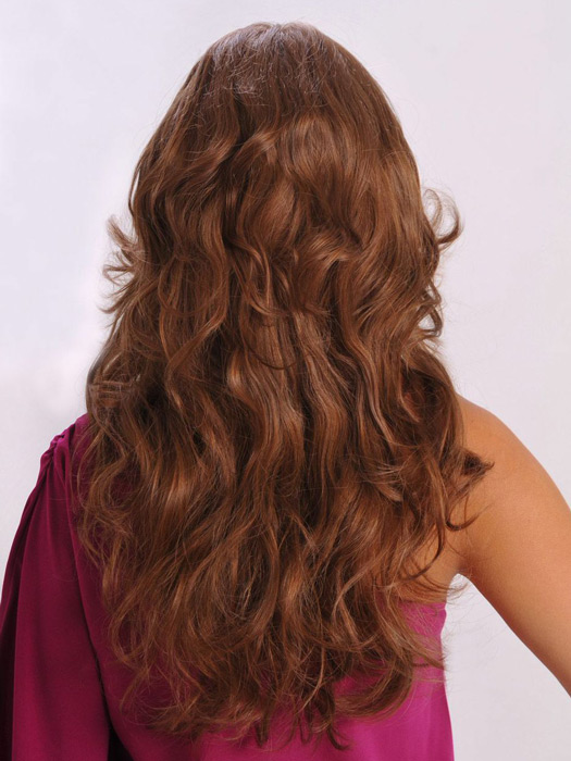 Style it curly or straight, just like your own hair | Color: Camel Brown