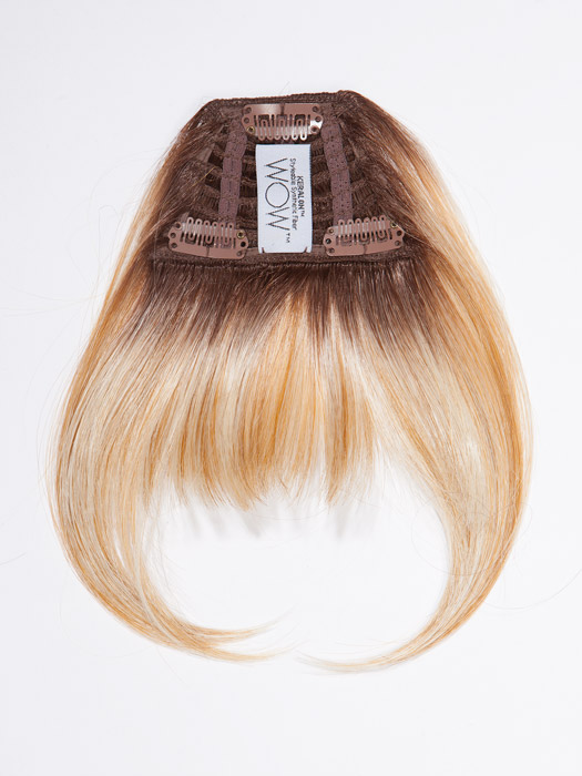 Three pressure sensitive clips keep the bangs secure. Color shown RD234/23C